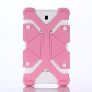 """FLEXI Univerzální silikonový kryt na tablet 7"""" - 8"""", světle růžový"""