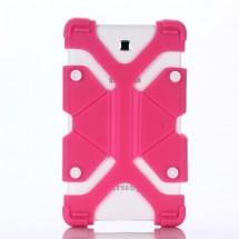 """FLEXI Univerzální silikonový kryt na tablet 7"""" - 8"""", tmavě růžový"""