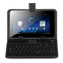 "KEYBAN Pouzdro na tablet 8"", s klávesnicí, koženkové, USB micro, černé"