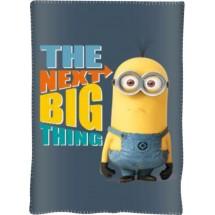 Fleece deka Mimoni šedá  150x100 cm